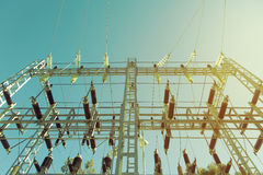 Electric transformer station. Stock Photography