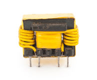 Electric transformer. On white background stock photos