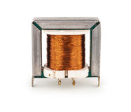 Electric transformer. On white background Stock Image