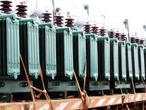Electric transformers Royalty Free Stock Image