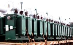 Electric transformers Stock Image
