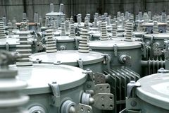 Electric transformers Royalty Free Stock Photography