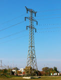 Electric transmission line. Tower and wires of an electric transmission line Stock Images