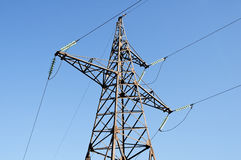 Electric transmission line Stock Photo