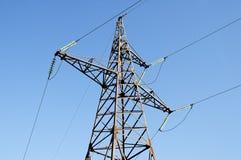 Electric transmission line Stock Photo
