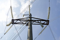 Electric transmission line Stock Photos
