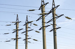 Electric transmission line Royalty Free Stock Photography
