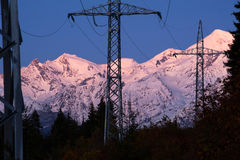 Electric transmission line Royalty Free Stock Image