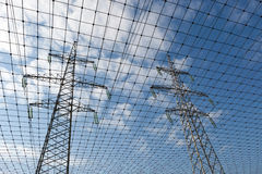 Electric transmission line and network Stock Image