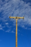 Electric Transmission Pole Stock Photography