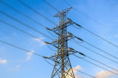 Electric Transmission Tower, Bangkok Thailand Stock Image