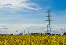 Electric transmission tower royalty free stock photo