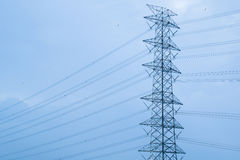 Electric Transmission Tower / High Voltage. Post royalty free stock image