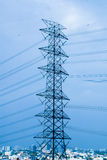 Electric Transmission Tower / High Voltage. Post royalty free stock images