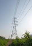 Electric Transmission Tower. In nature stock photo