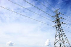 Electric Transmission Tower near Talingchan , Bangkok Thailand Stock Photos