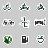 Electric transport icon set Royalty Free Stock Image