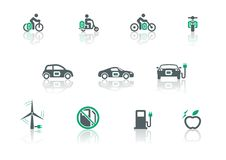 Electric transport and power icon Stock Image