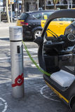 Electric tricycle Stock Photo