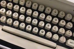 Electric typewriter keyboard stock photography
