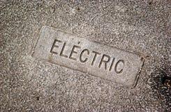 Electric utility cover Stock Photos