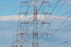 Electric utility power pole royalty free stock photos