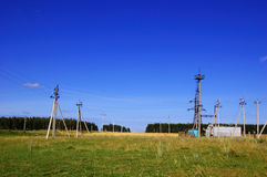 Electric utility substation Stock Photos