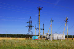 Electric utility substation Royalty Free Stock Photography