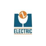 Electric Vector logo design Stock Image