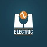 Electric Vector logo design Royalty Free Stock Image