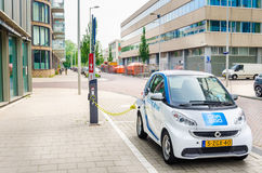 Electric Vehicle in Amsterdam royalty free stock image