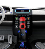 Electric vehicle center console with full size touch panel Royalty Free Stock Photos
