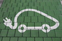 Free Electric Vehicle Charger Station Symbol Stock Image - 161764011