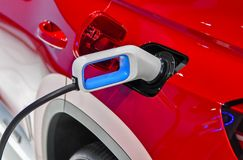 Electric vehicle charging Royalty Free Stock Image