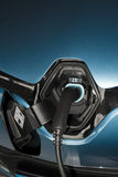 Electric vehicle charging Stock Photo