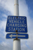 Electric vehicle charging sign Stock Photography
