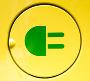 Electric vehicle charging sign Stock Photo