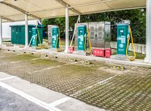The electric vehicle charging station, China. Royalty Free Stock Images