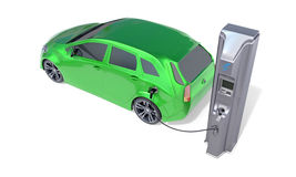 Electric Vehicle Charging Station. Concept. 3D illustration Stock Image