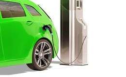 Electric Vehicle Charging Station Stock Photos