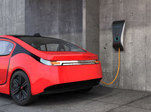 Electric vehicle charging station for home. stock images