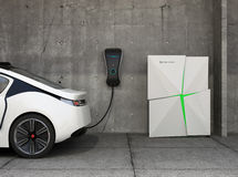 Electric vehicle charging station for home Royalty Free Stock Photo