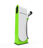 Electric Vehicle Charging Station Stock Photography