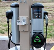 Electric Vehicle Charging Station Royalty Free Stock Photo