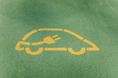 Electric Vehicle Charging Station Sign Royalty Free Stock Photo