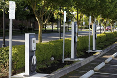 Electric Vehicle Charging Stations Royalty Free Stock Image