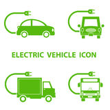 Electric vehicle icon Stock Photography