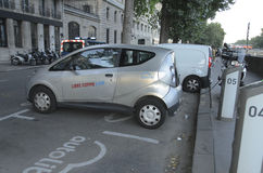 Electric Vehicle Paris Stock Image