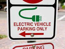 Electric vehicle parking Stock Image