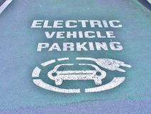 Electric vehicle parking space Royalty Free Stock Images